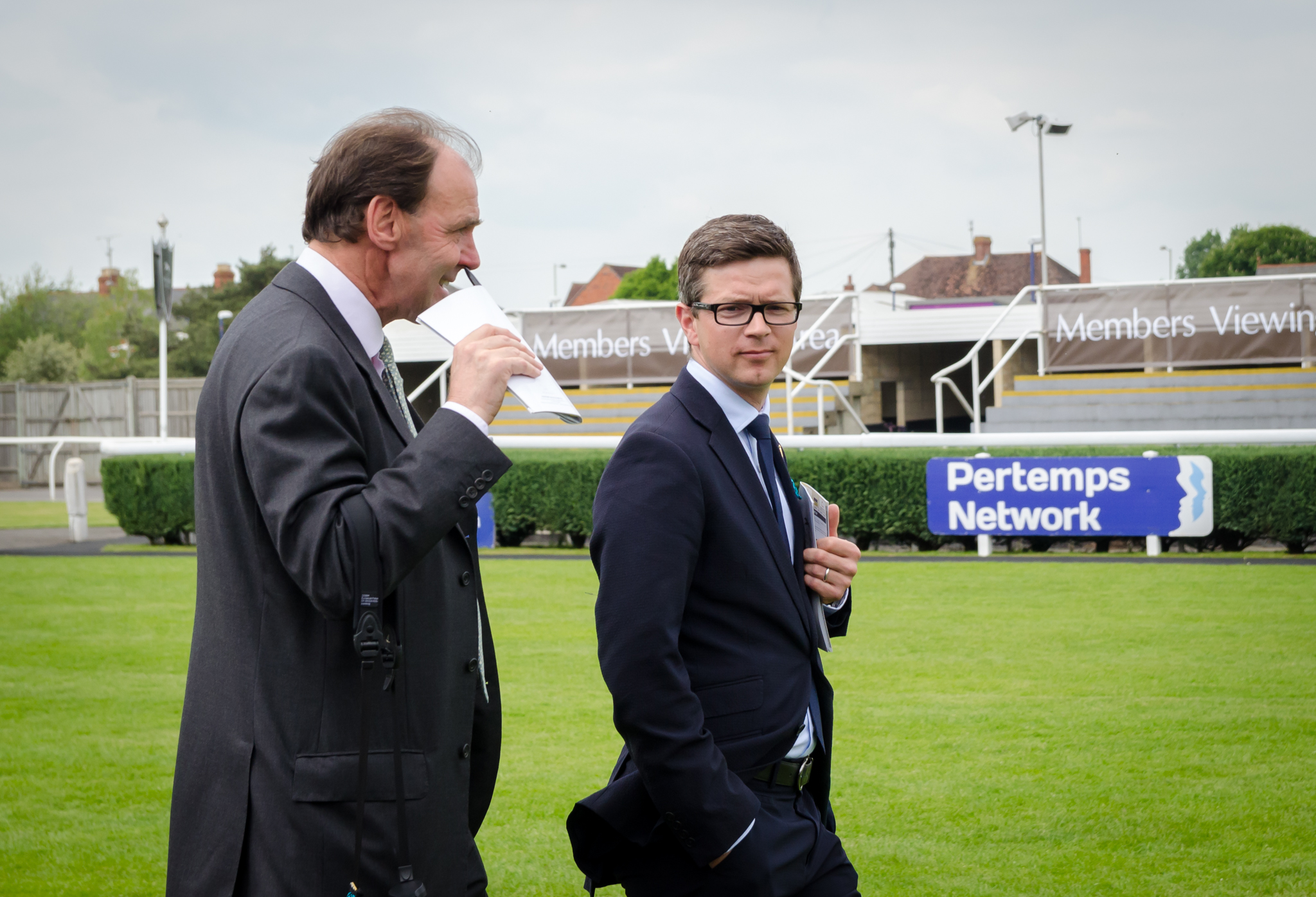 Postponed's trainer Roger Varian (right). Photo: Florian Christoph