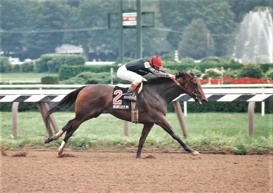 Star descendant: Heavenly Prize (her third dam is Lady Pitt), wins the 1994 Alabama. She became that year's champion 3-year-old filly. Photo: Mary Pitt