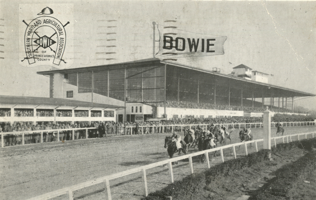 Bowie racetrack in the 1950s. Despite staging some of Maryland's biggest races, the track was dogged by fires and scandals