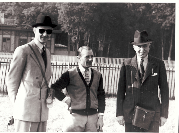 Trainer Henry Count (right) and jockey R. Brethes (middle).