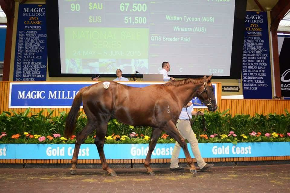 Jeff Cullen admitted he was slightly disappointed when Winning Rupert fetched just A$67,50o at the Magic Millions yearling sale in March 2015