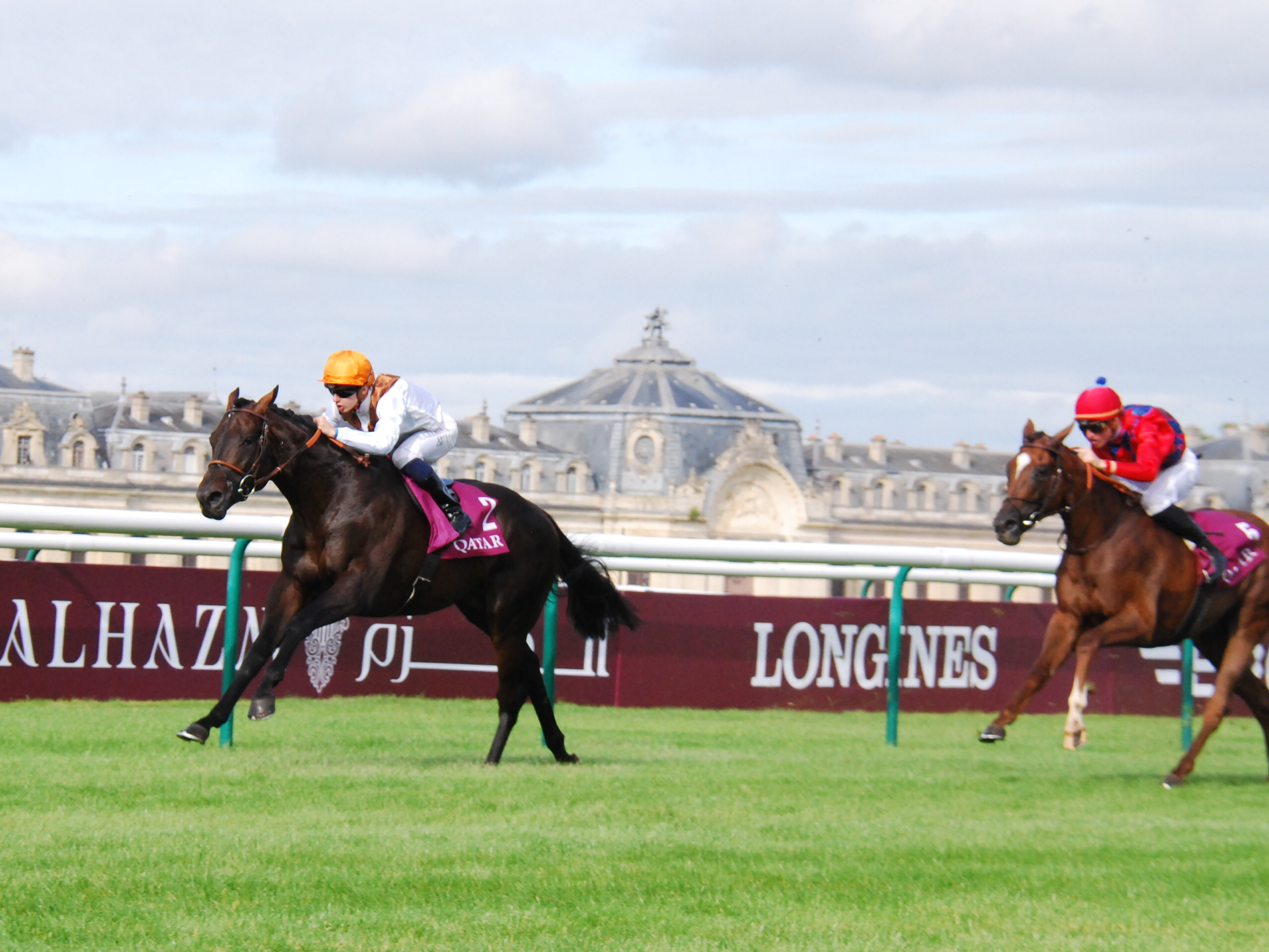 That crucial Group 1 victory: Vadamos (Vincent Cheminaud) winning the Prix du Moulin at Chantilly. Photo: John Gilmore