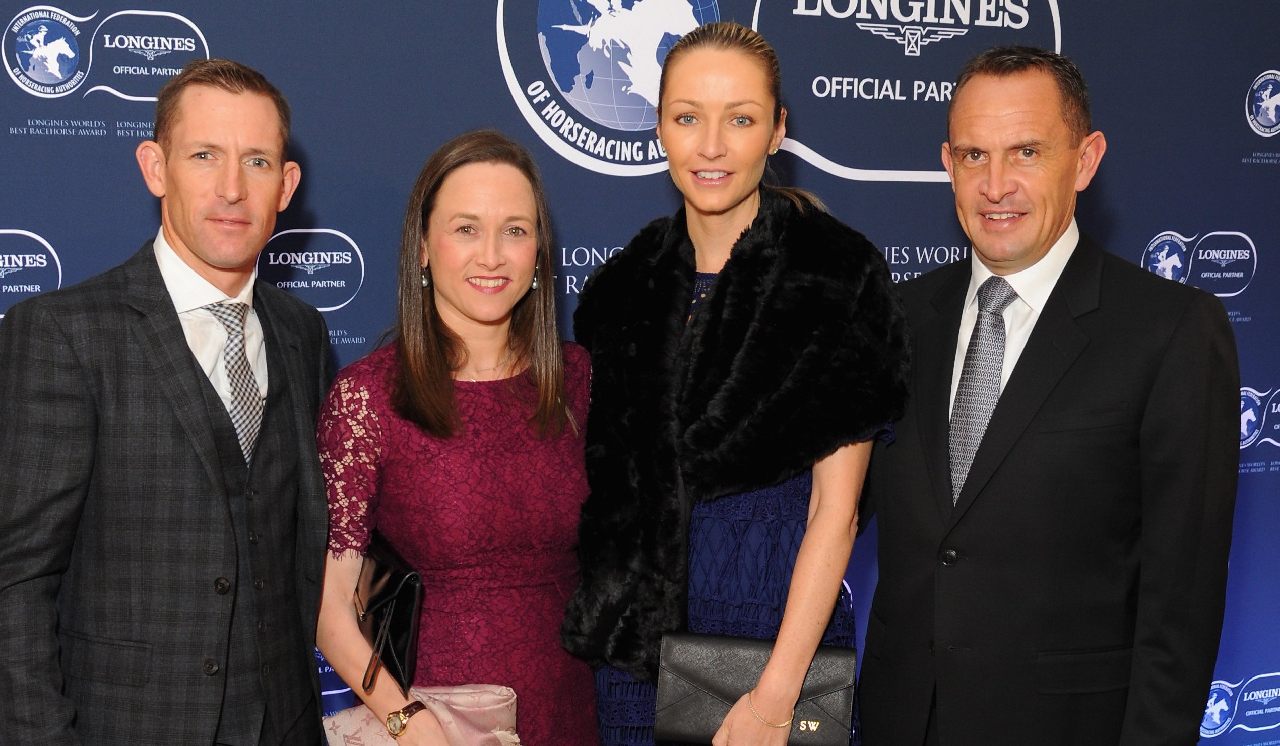 Hugh and Christine Bowman (left) with Chris and Stephanie Waller. Photo: Longines