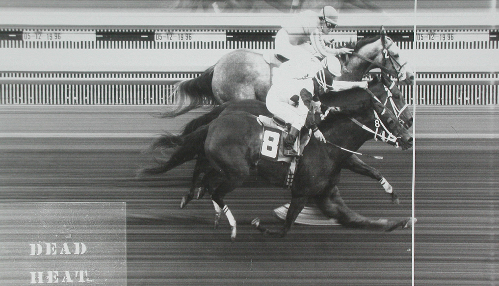 Triple dead heat photo finish at Yakima Meadows. Image: Sundevil88r