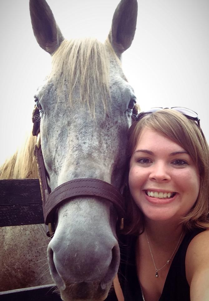 The author at Old Friends with the horse that started it all for her. Photo: Amanda Duckworth