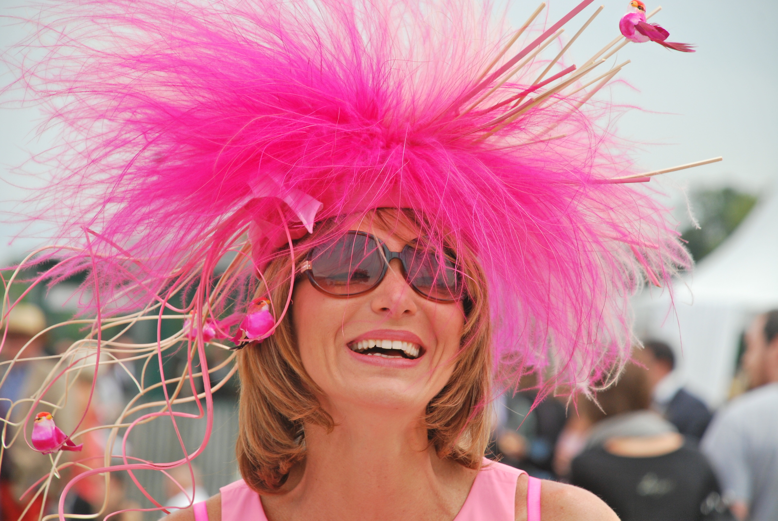 Chic at Chantilly: the traditional Prix de Diane link to fashion and glamour is a magnet that always attracts thousands. Photo: John Gilmore