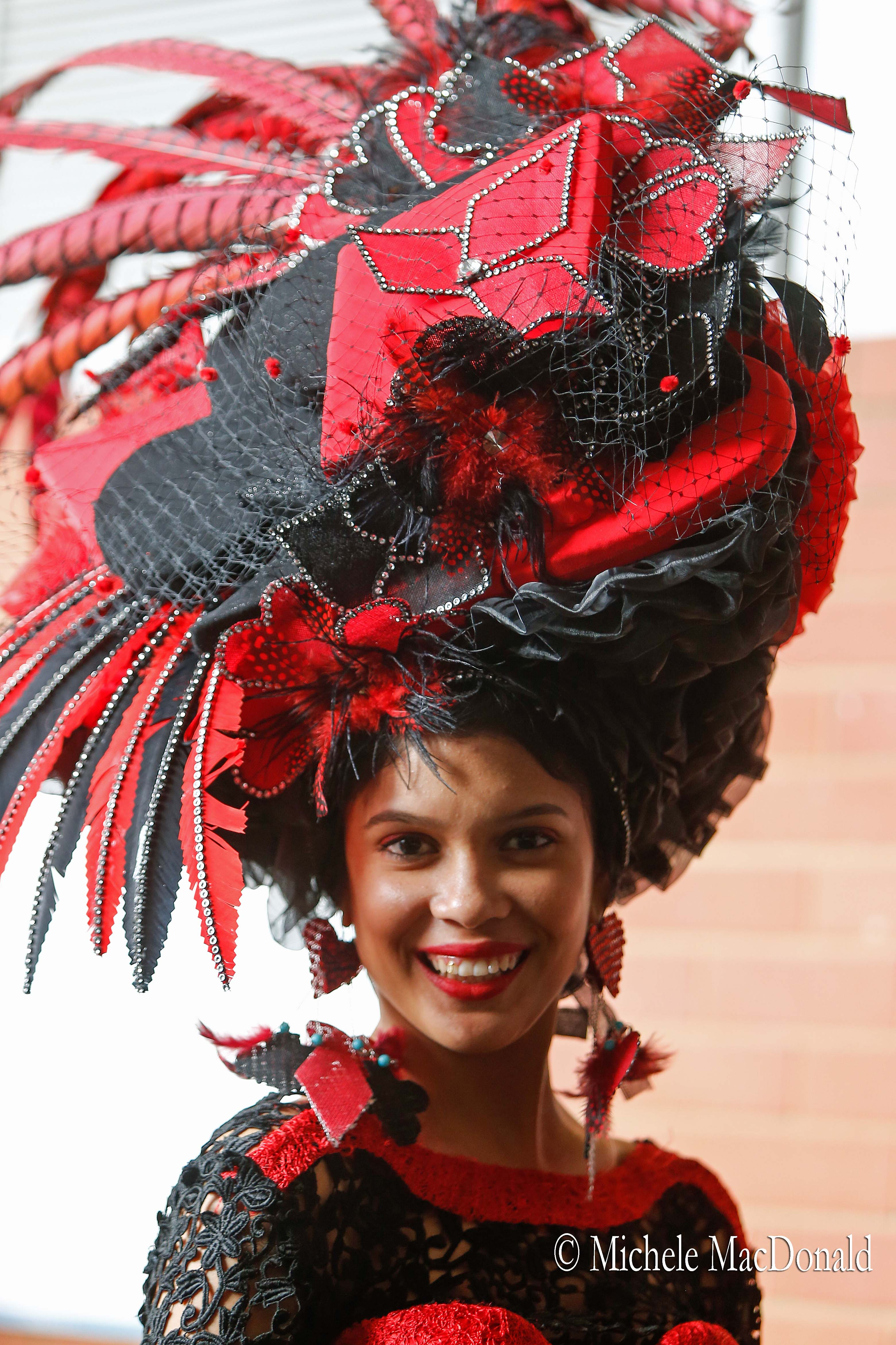 Stunning women wearing feathered hats up to three feet tall are a feature of the day. Photo: Michele MacDonald
