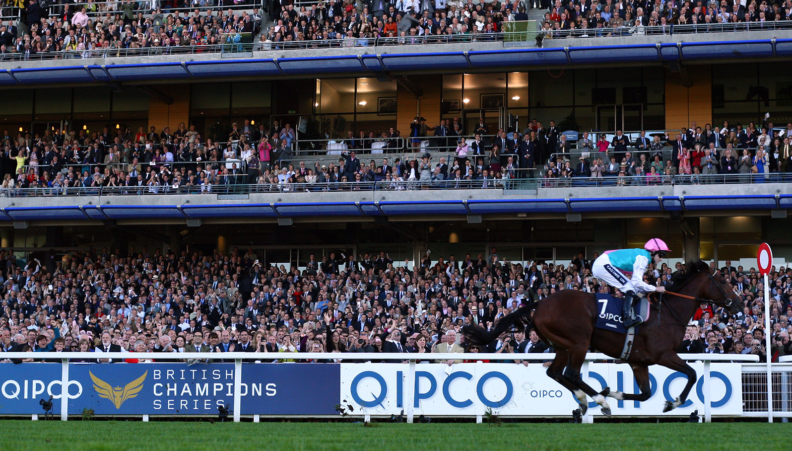 Frankel winning the 2011 Queen Elizabeth II Stakes at Ascot's Champions Day. Photo: Turnberry Consulting