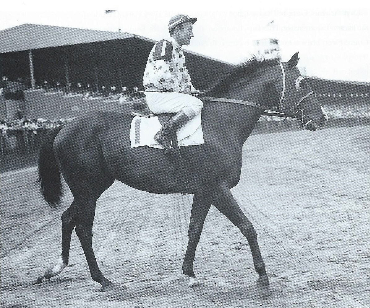 Contender: Bossuet, coupled with a stablemate, was 6/5 favorite for the 1944 Carter. Photo: Bert Morgan