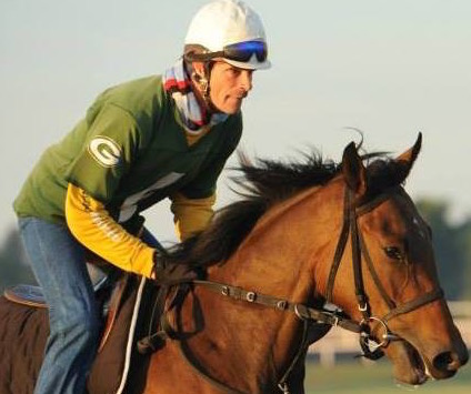Exercise rider: Alex Brown has ridden work for some of America's leading trainers