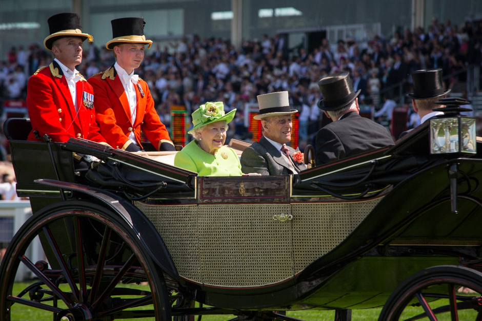 The Royal Procession is a feature of the meeting every day before racing. Photo: Stephie Prince