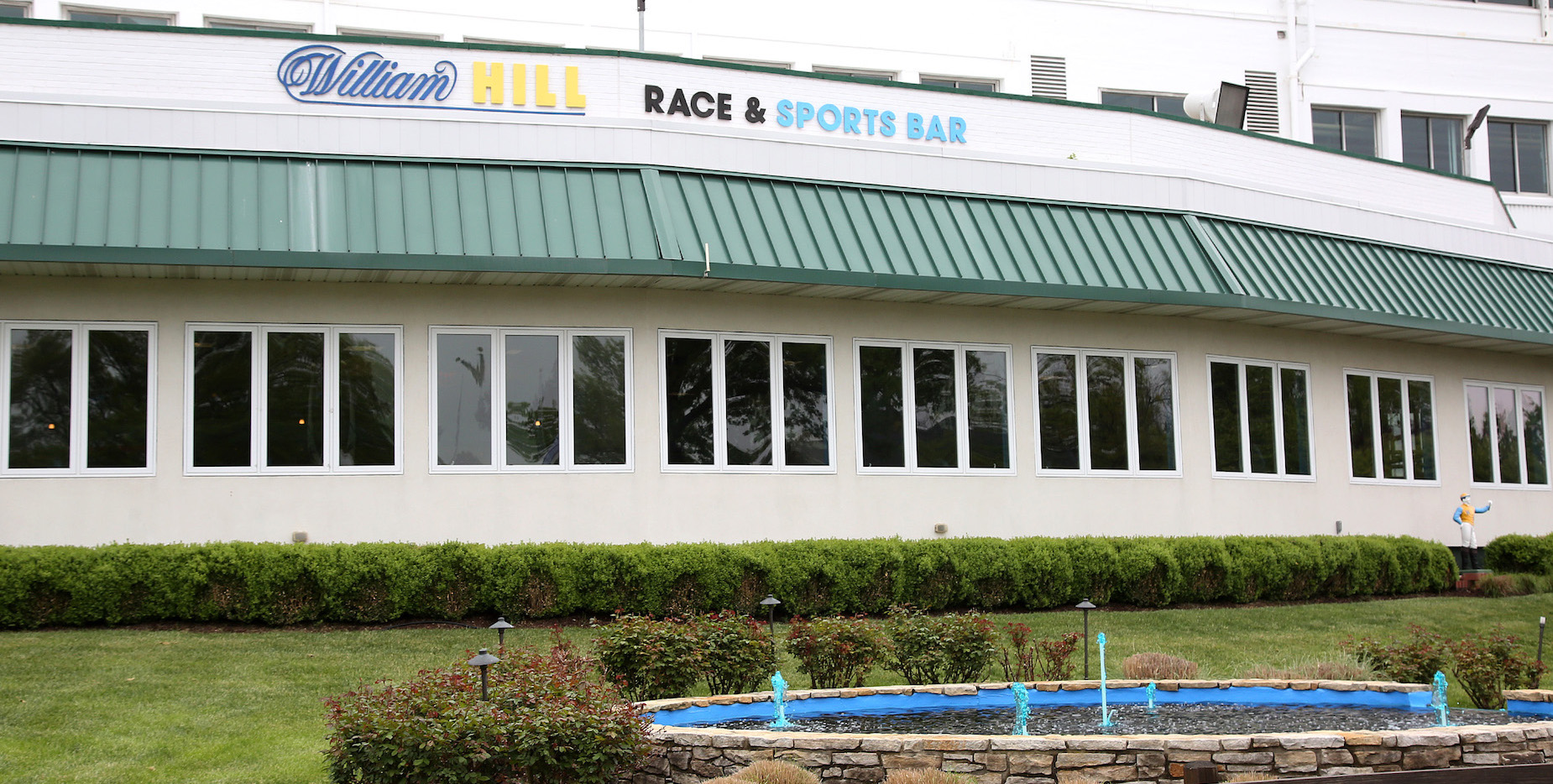The William Hill facility at Monmouth Park in Oceanport, New Jersey. Photo: Bill Denver/EQUI-PHOTO
