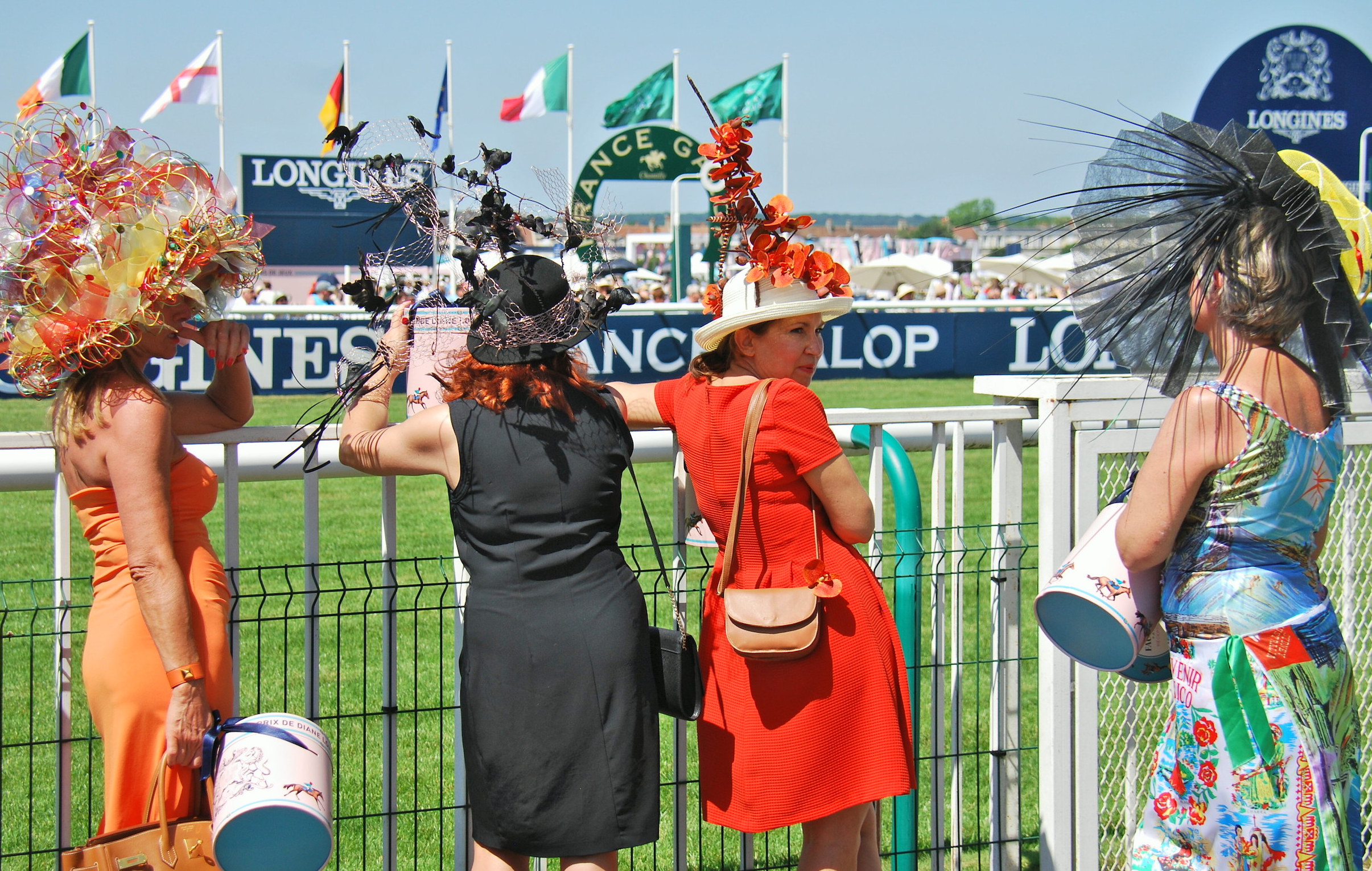 Elegance at trackside at glorious Chantilly for last year's Prix de Diane.  Photo: John Gilmore