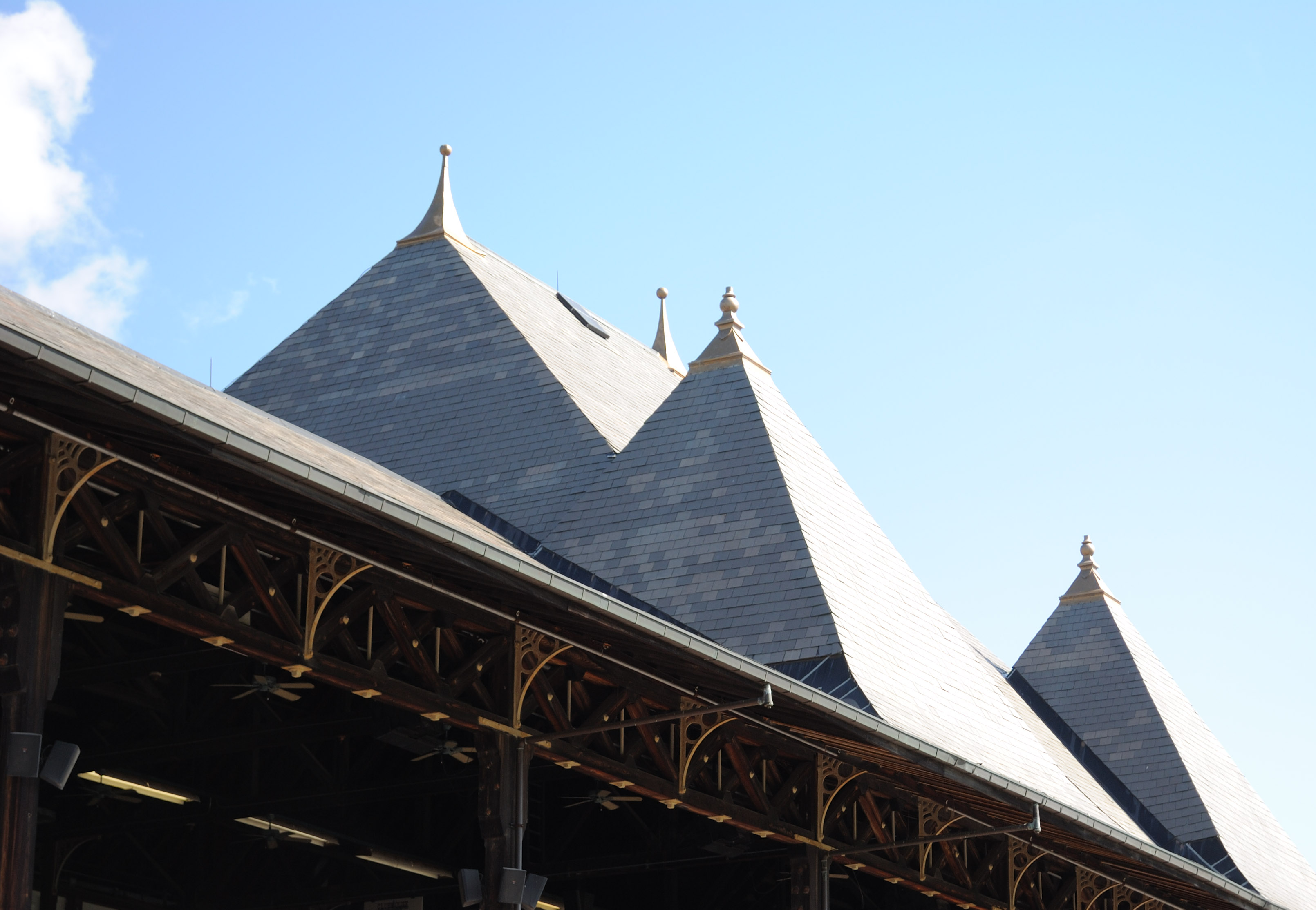 The grandstand's pinnacled roofline is an unofficial emblem of the track. Photo: Isabelle Taylor