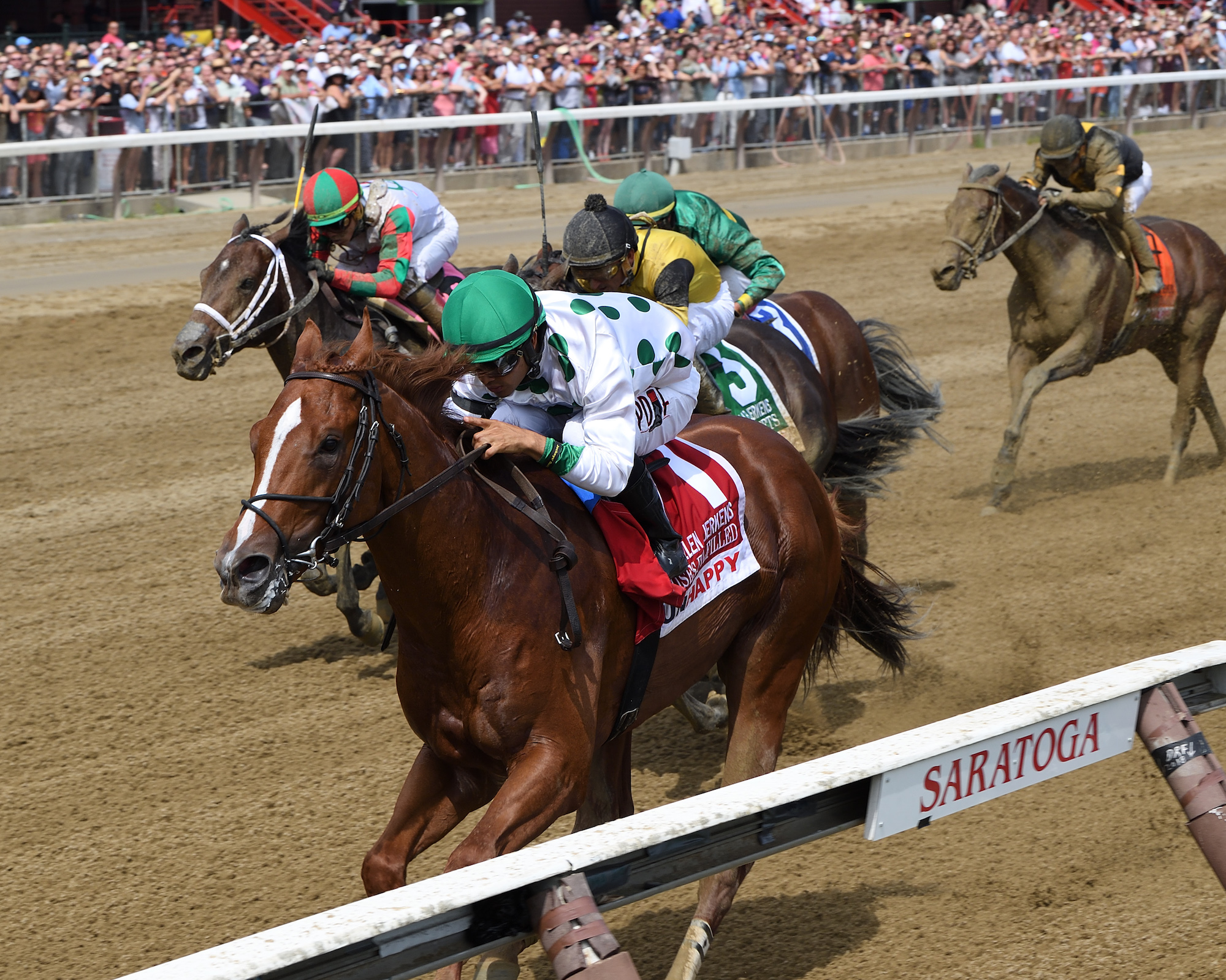 Young talent: Promises Fulfilled takes the G1 Allen Jerkens at Saratoga. Photo: Chelsea Durand