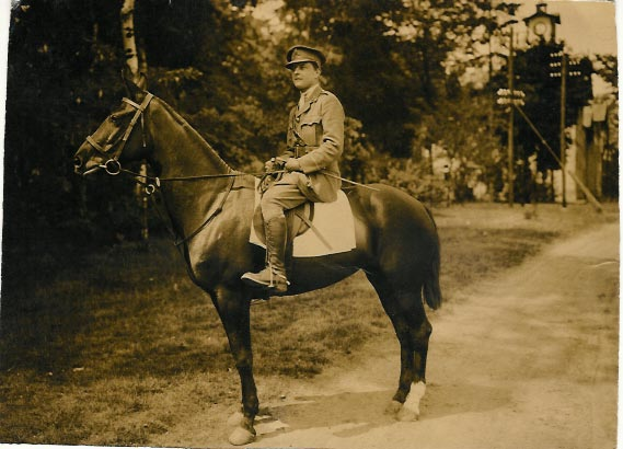 War hero Richard Johnson in uniform on horseback. The photo was provided by his granddaugher, Carolyn McCartney