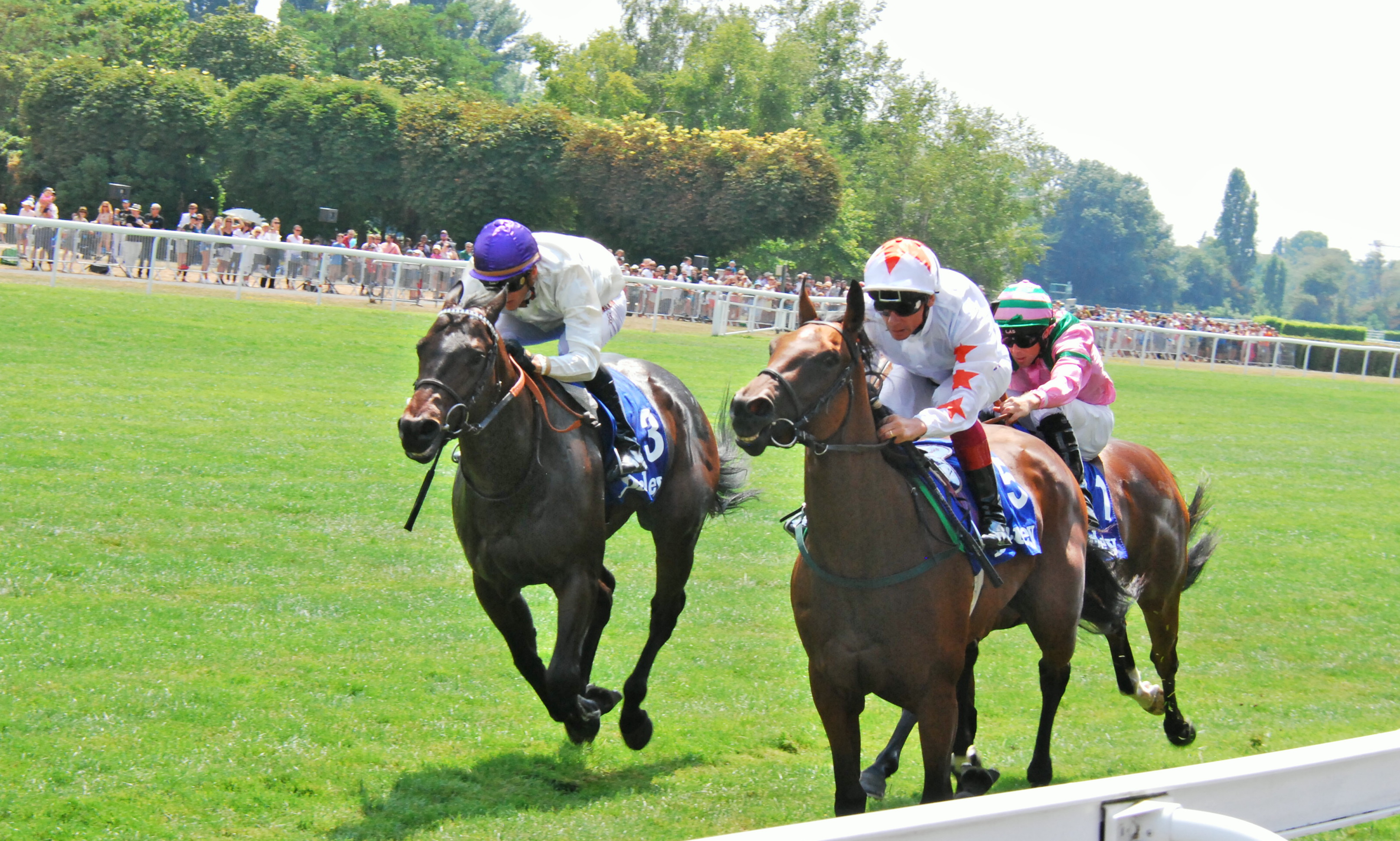 Signoro Cabello (Frankie Dettori) winning one of Maisons-Laffitte's most famous races, the G2 Prix Robert Papin, last July. Under the plans to close the track, the race would be moved elsewhere. Photo: John Gilmore