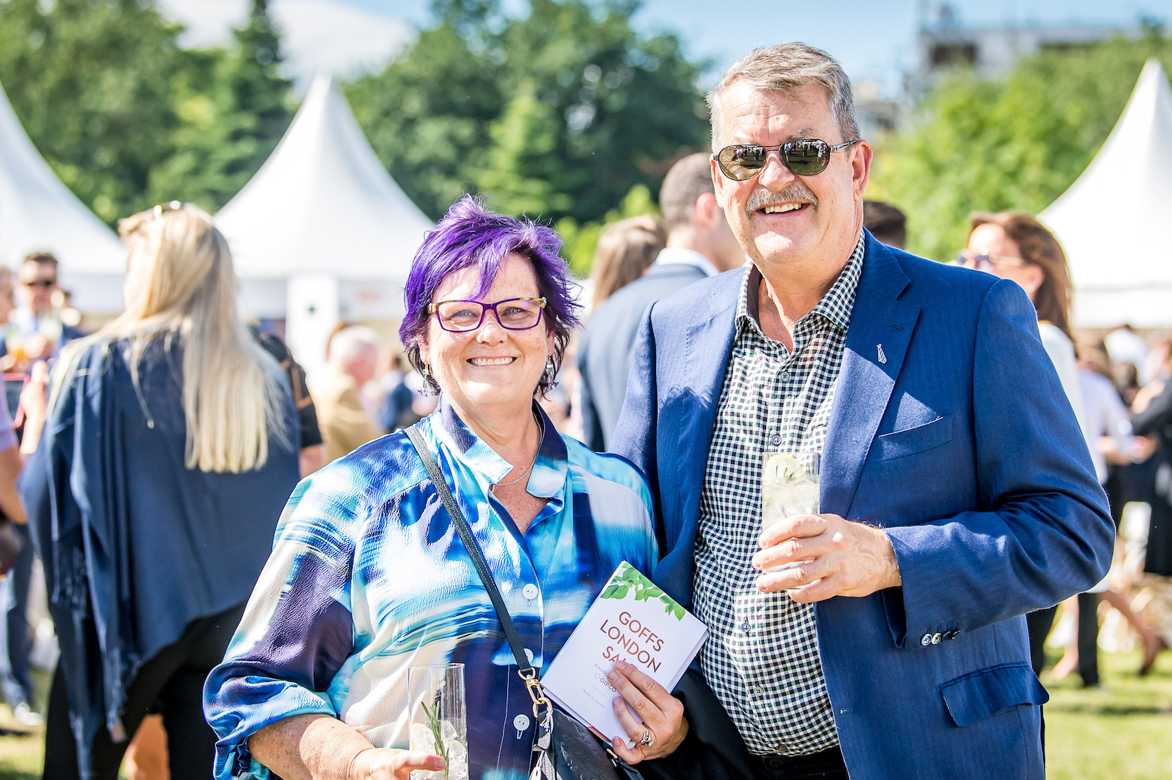 Debbie and Paul Kepitis, owners of Winx, were among the internationals who flocked to the Goffs London Sale last year (credit: Sarah Farnsworth