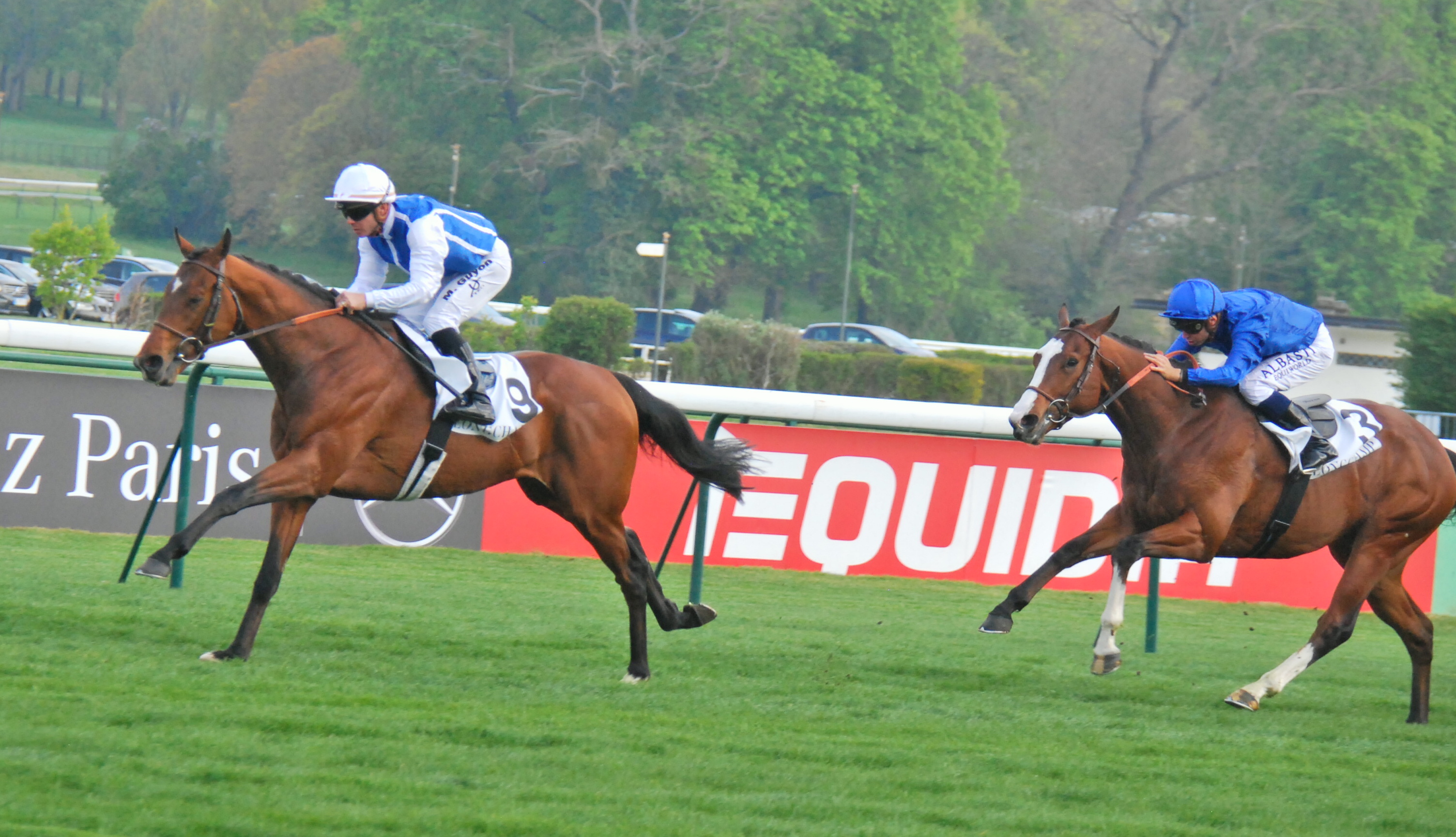 Contender: Slalom (Maxime Guyon) winning the G3 Prix Noailles at ParisLongchamp last month. Photo: John Gilmore