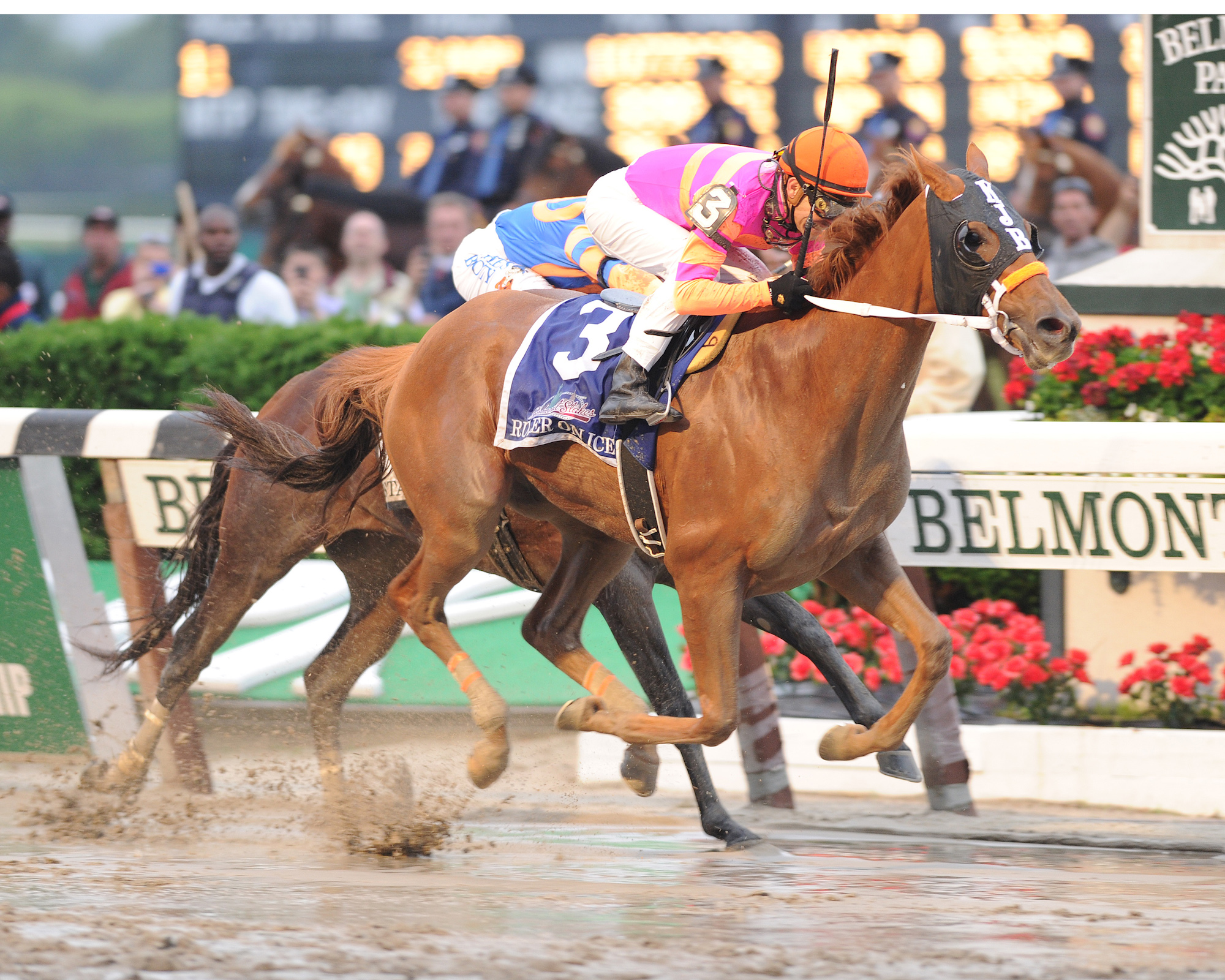 Ruler On Ice winning the Belmont Stakes in 2011. Photo: NYRA.com