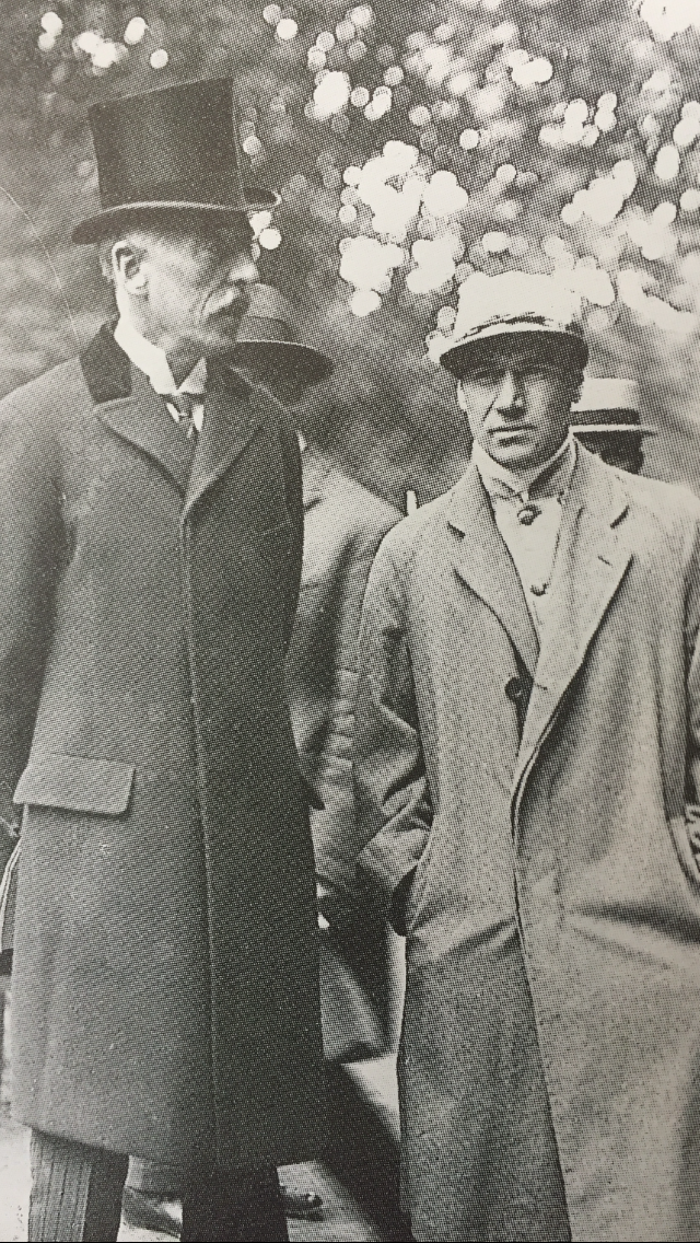 Edouard Rothschild, pictured with American jockey Matthew McGee