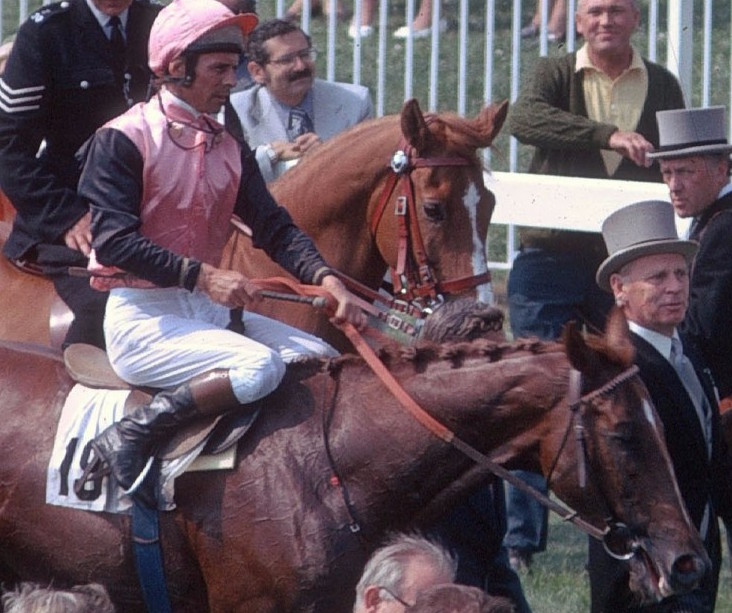 "Guiding light: the late Brian Taylor, pictured after winning the 1974 Epsom Derby on Snow Knight, became a mentor to Frankie Lor. ""I had tried to copy him as a jockey, but it had not been easy to do that, he was so good,"" says Lor. Photo: Gerry Cranham"