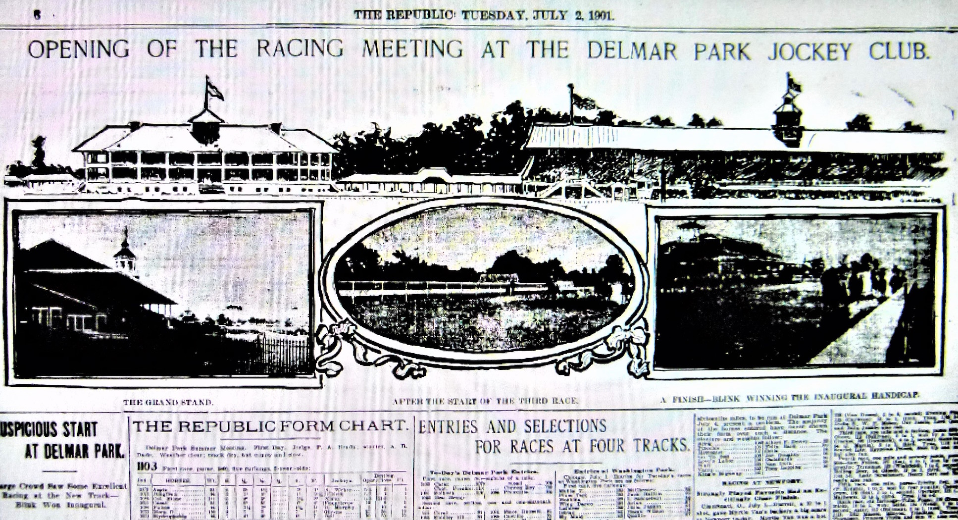 How the St Louis Republic covered the 1901 opening of Delmar Park