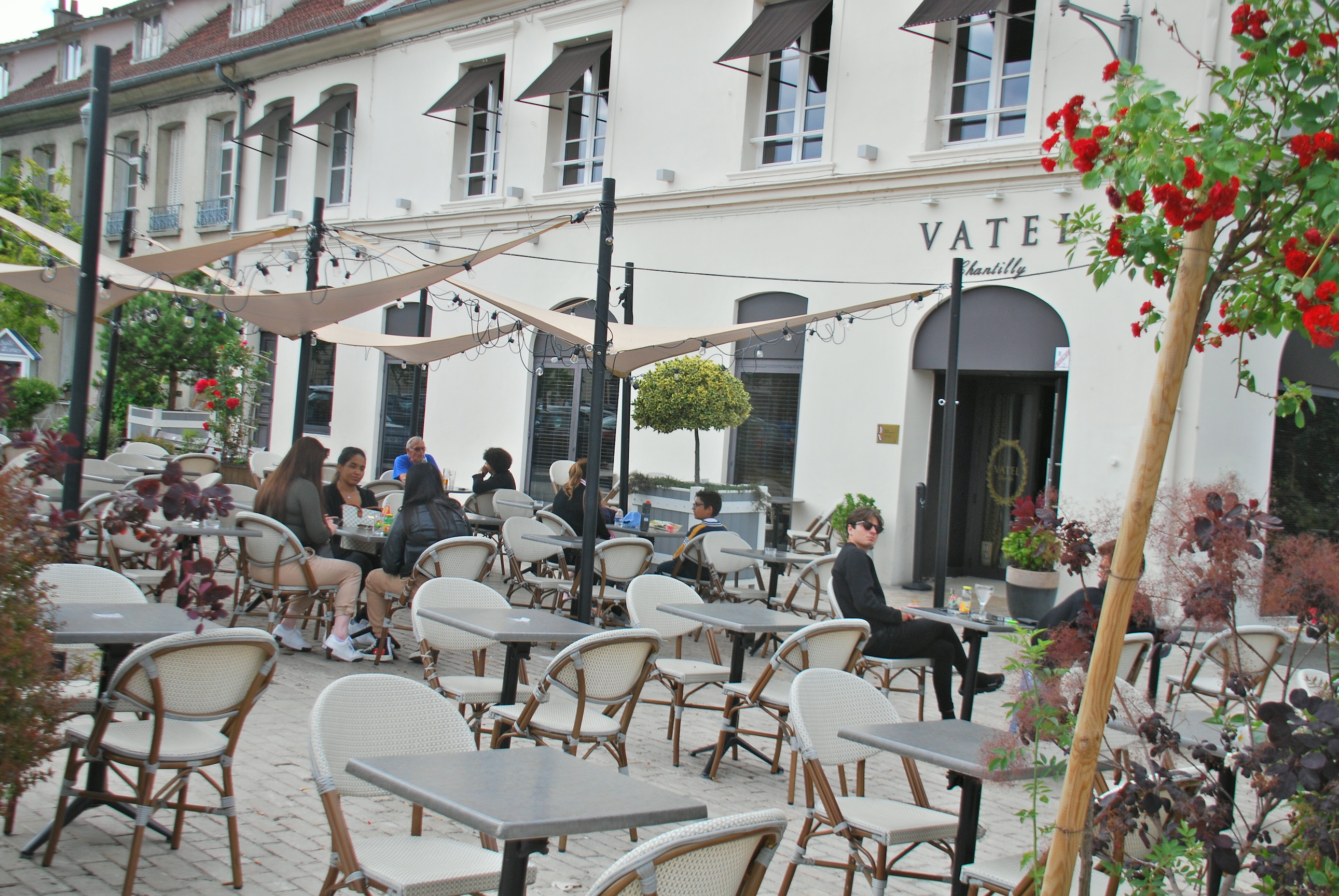 Just casual trade: Vatel brasserie, in the centre of Chantilly, would usually be packed two days before either Classic. Photo: John Gilmore