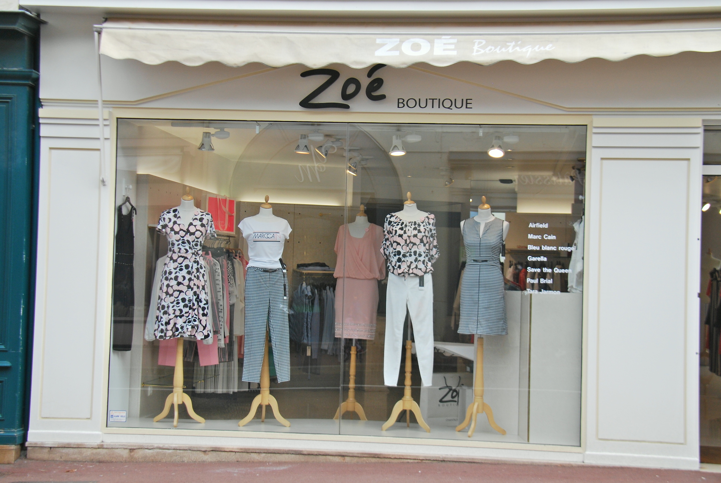 No high-fashion in sight: You'd never know it was Prix de Diane day just 48 hours away by looking at the window of the famous Zoe boutique in the centre of Chantilly, which normally has a spectacular display of hats and dresses for that particular occasion. Photo: John Gilmore