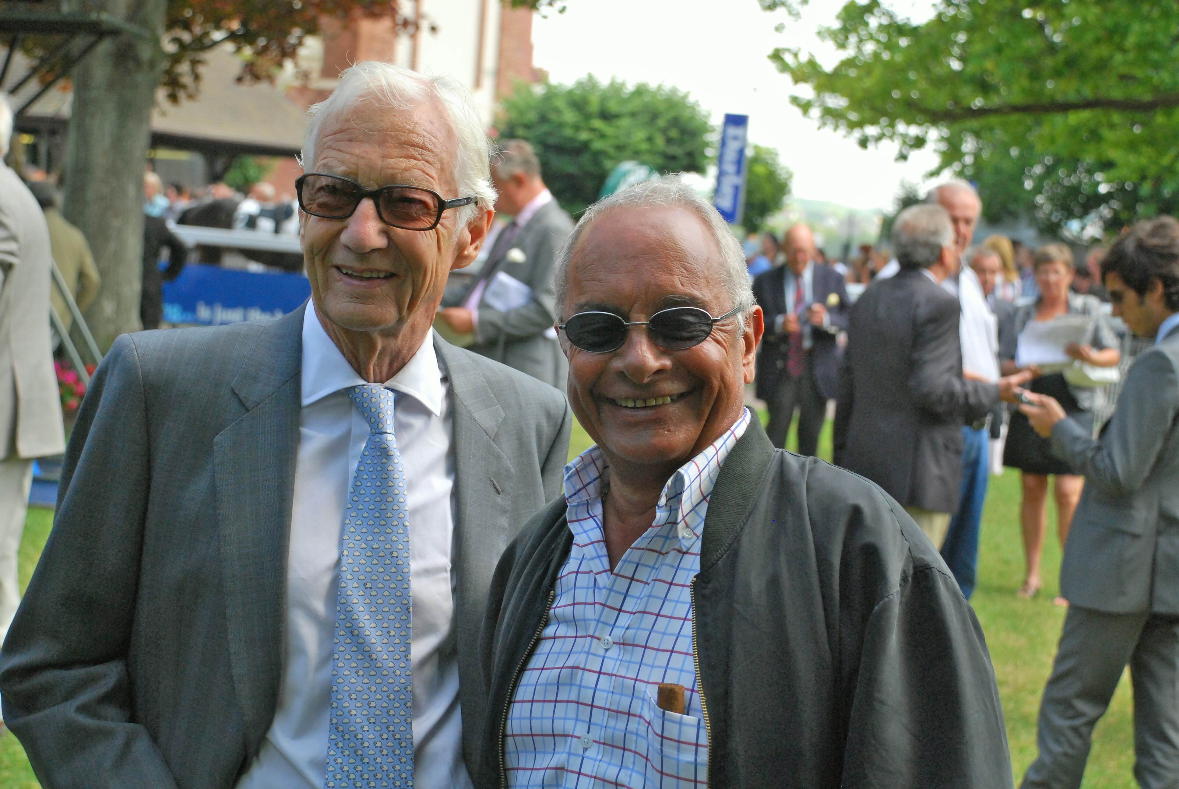 "Two of the greats: Yves Saint-Martin (right) pictured with Lester Piggott. ""Yves is the best I have worked with and seen,"" says Royer-Dupré. Photo: John Gilmore"